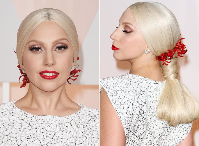 Gospa Gaga's Ponytail on the Red Carpet at the Academy Awards