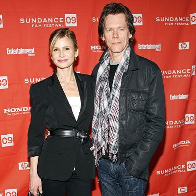 凯拉 Sedgwick and Kevin Bacon, Premiere of Taking Chance, Red Carpet Report, 2009 Sundance Film Festival