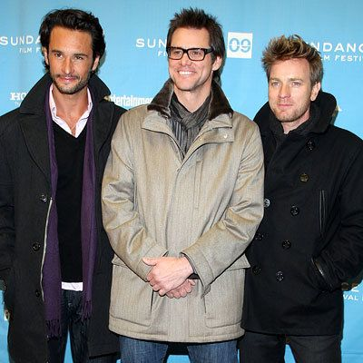 罗德里戈 Santoro, Jim Carrey and Ewan McGregor, I Love You Phillip Morris premiere, Sundance Red Carpet report, 2009 Sundance Film Festival