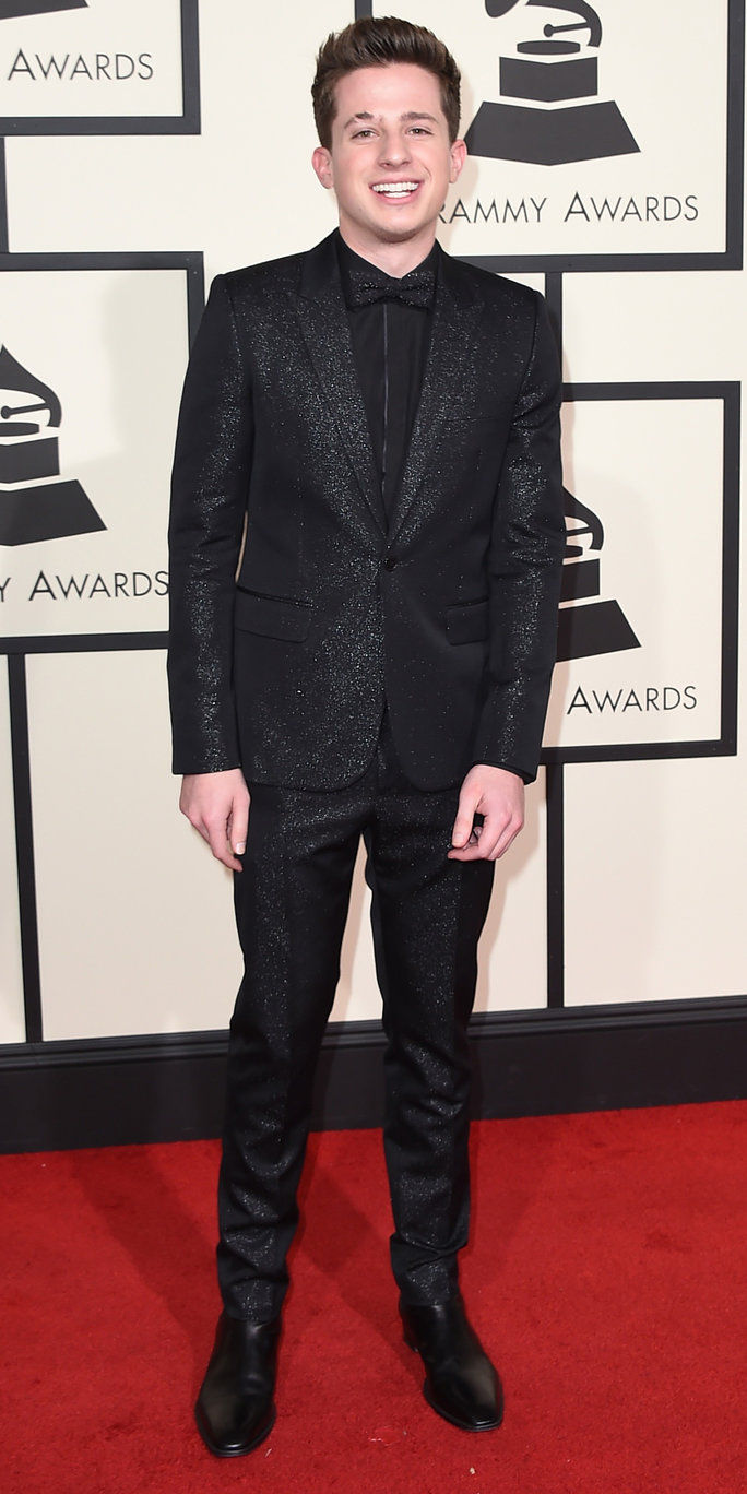 查理 Puth arrives at the 58th annual Grammy Awards at the Staples Center on Monday, Feb. 15, 2016, in Los Angeles. (Photo by Jordan Strauss/Invision/AP)