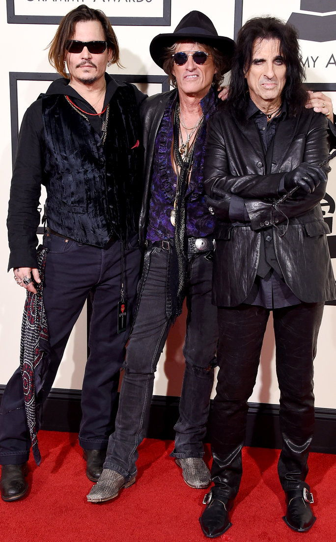 约翰尼 Depp, Joe Perry and Alice Cooper