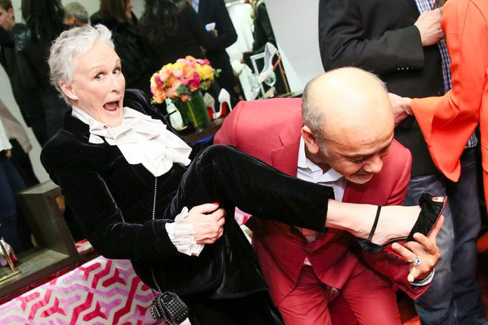 Christian Louboutin and Glenn Close