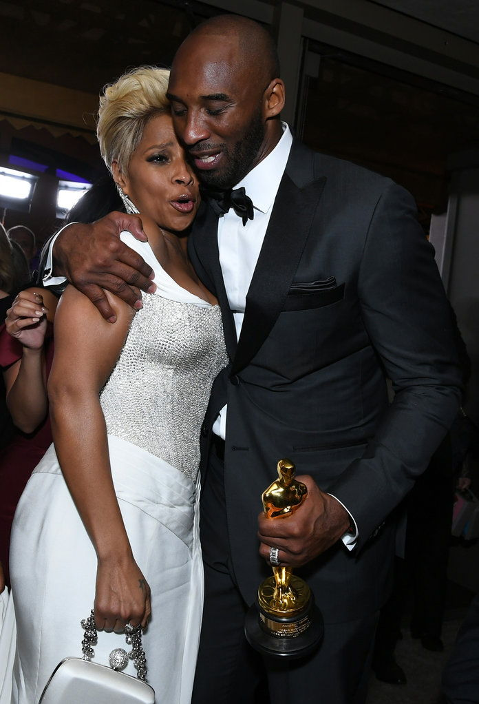 Mary J. Blige and Kobe Bryant