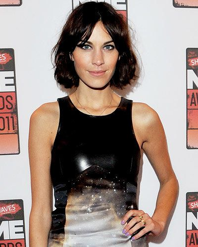 Alexa Chung - Hot Star Nail Polish Trends - Purple Nails