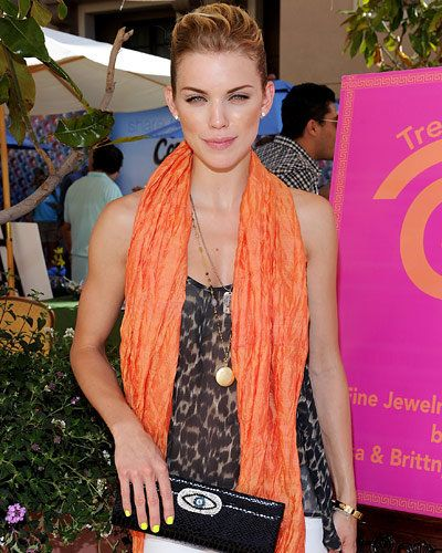 AnnaLynne McCord - Hot Star Nail Polish Trends - Yellow Nails