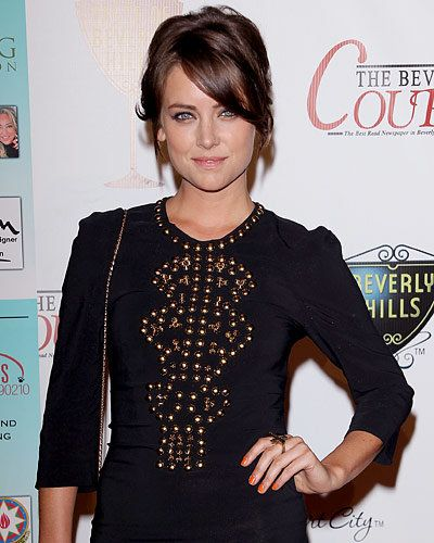 Jessica Stroup - Hot Star Nail Polish Trends - Orange Nails