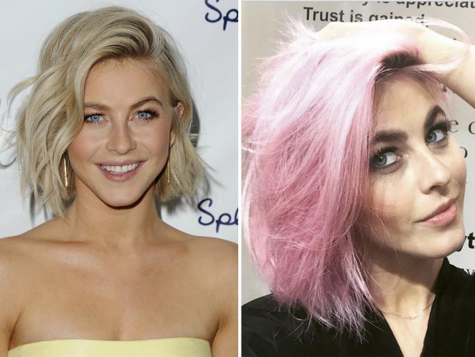 Julianne Hough dyes hair pink