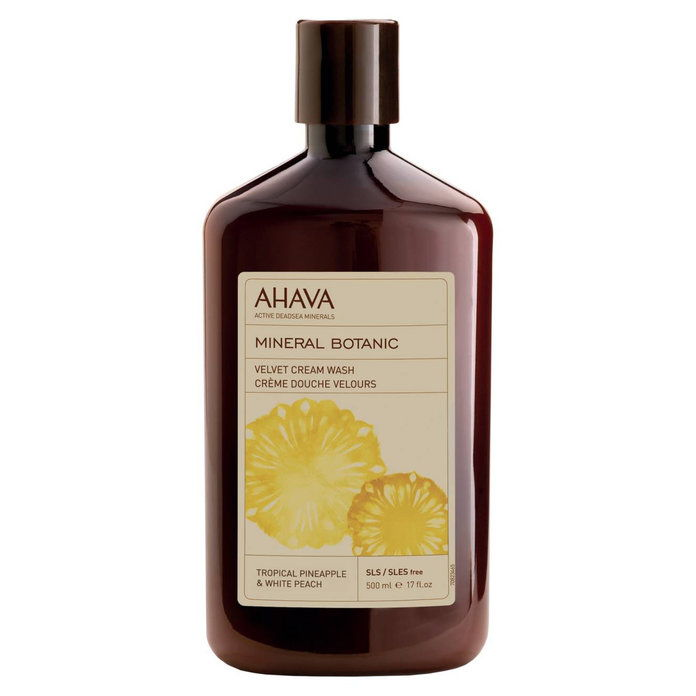 Ahava Tropical Pineapple & White Peach Mineral Botanic Velvet Cream Wash