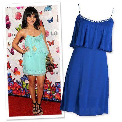 Stars in Summer Dresses, Vanessa Hudgens, Gold Hawk, American Eagle Outfitters