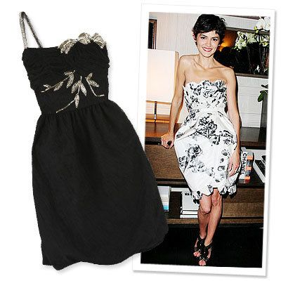 Stars in Summer Dresses, Audrey Tautou, Chanel, Anna Sui
