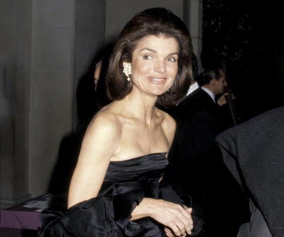 Jackie Onassis at the Costume Institute Gala Presents