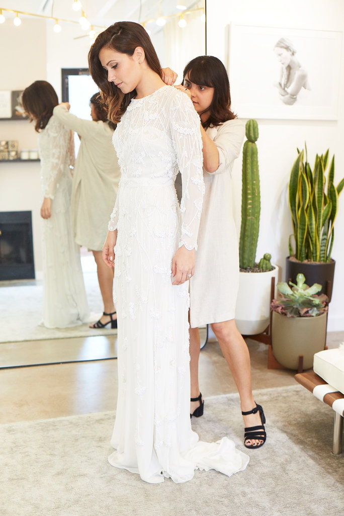 "博 & Luca ""Manhattan""gown at Loho Bride, $6,650."
