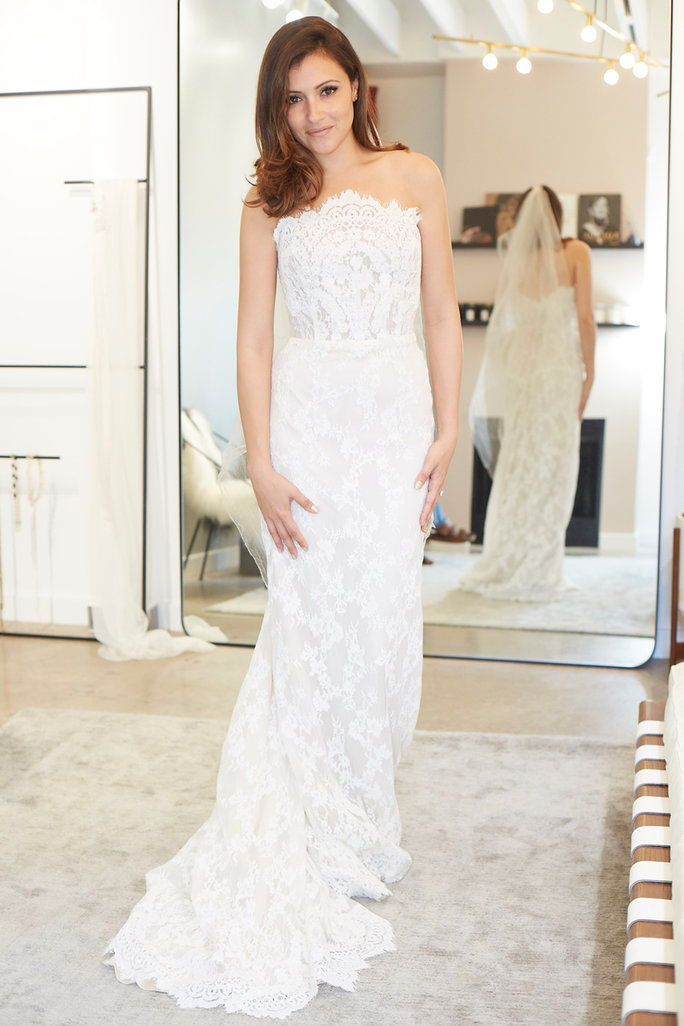 "Unbridaled by Dan Jones ""Brandy"" gown at Loho Bride, $3,100."