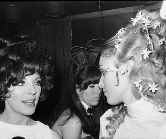 Sharon Tate and Joan Collins - 1968