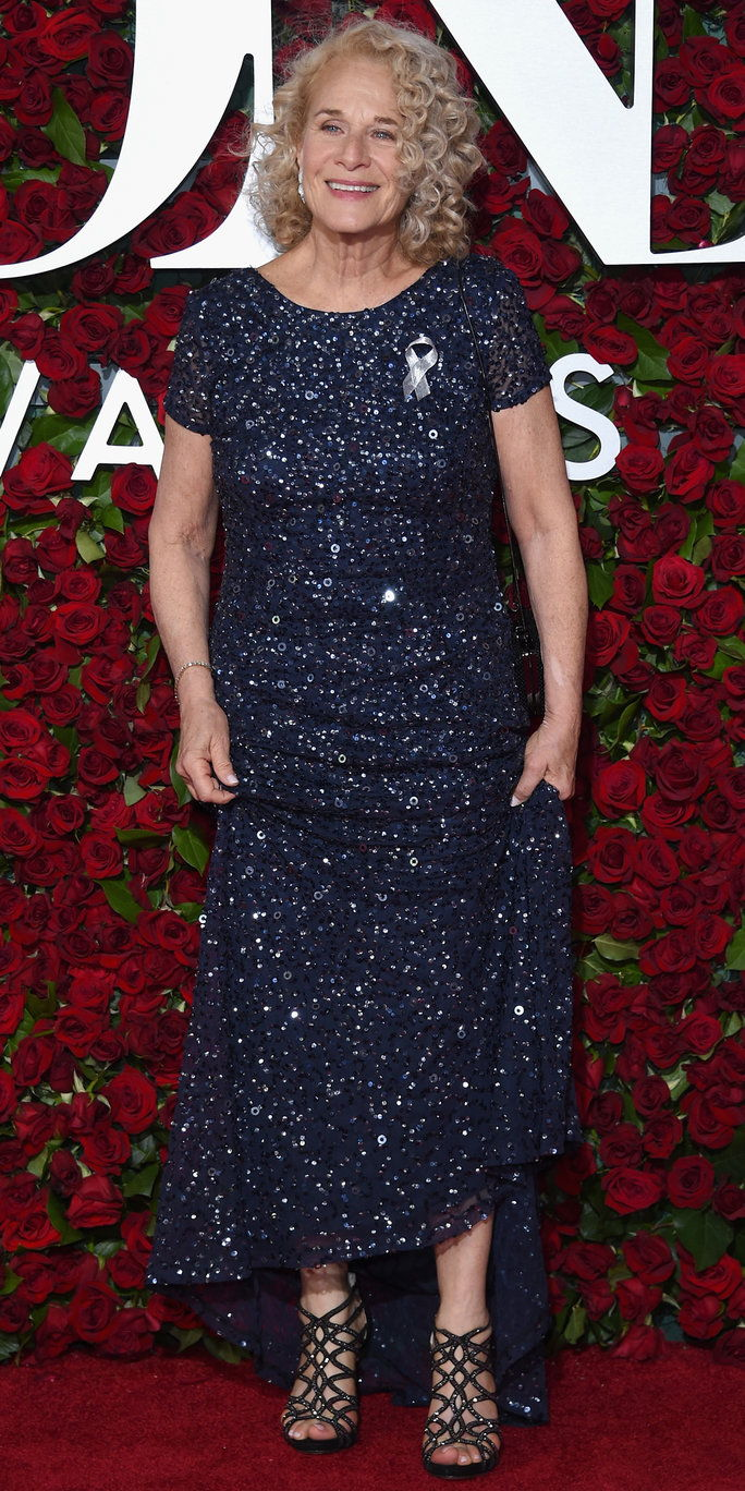 Carole King attends the 70th Annual Tony Awards at The Beacon Theatre on June 12, 2016 in New York City.