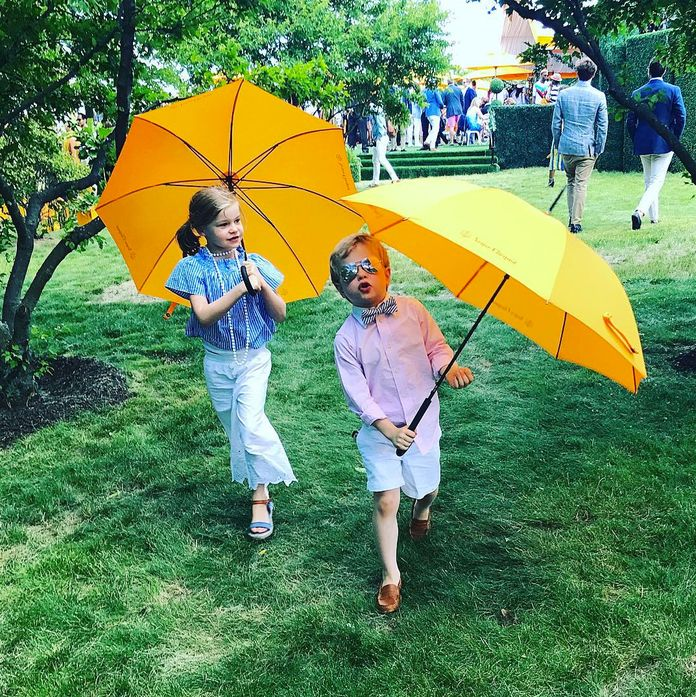Mest stylish 6-year-olds at the Veuve Clicquot Polo Classic