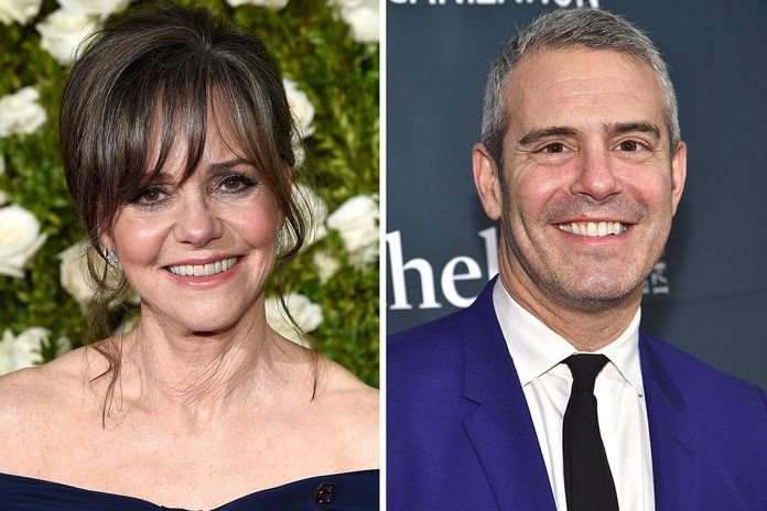 Sally Field and Andy Cohen