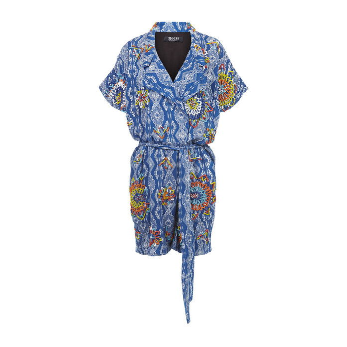 Blå Cotton Beaded Umgeni Playsuit