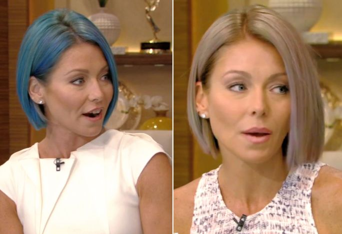 Kelly Ripa new oval hair