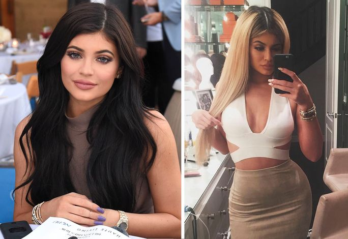 Kylie Jenner goes blonde