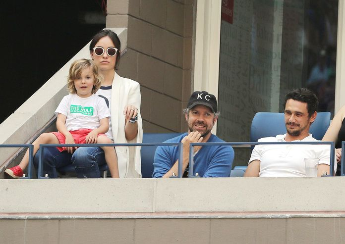 Olivia Wilde, Jason and Otis Sudeikis, and James Franco