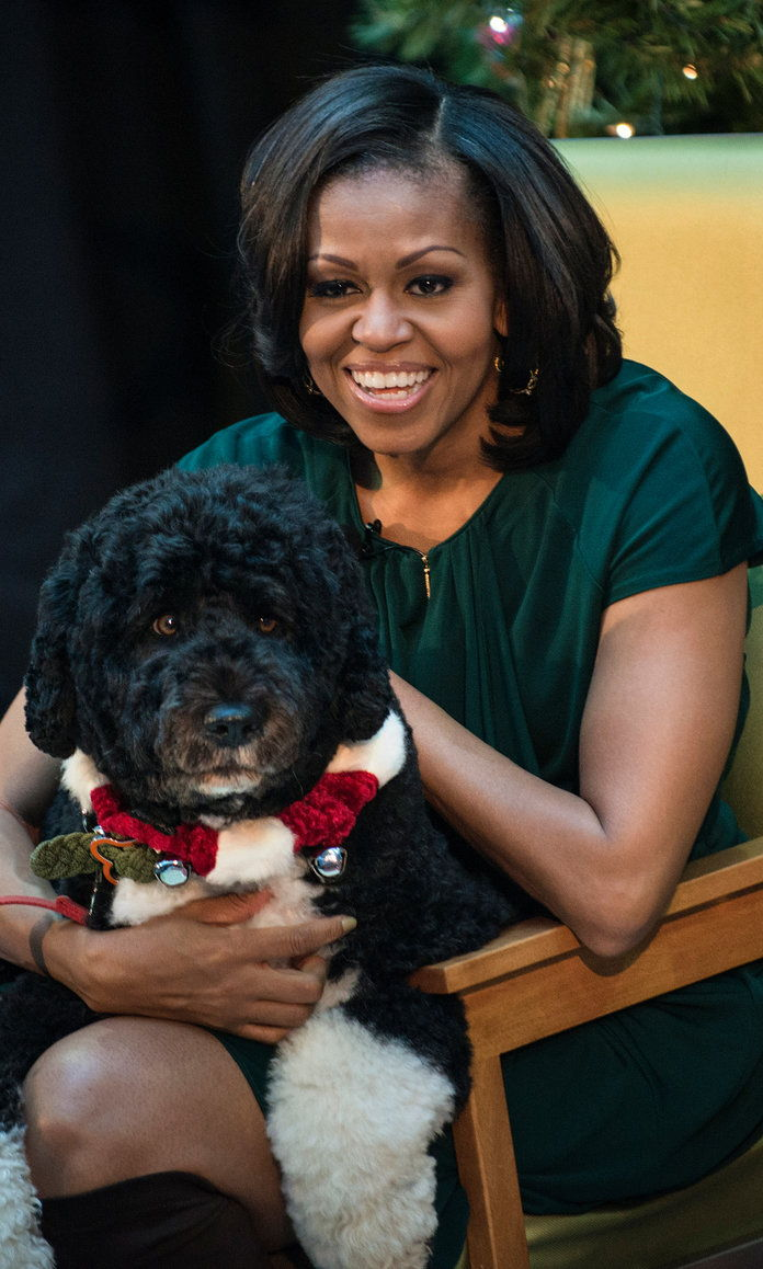 Michelle Obama and Bo
