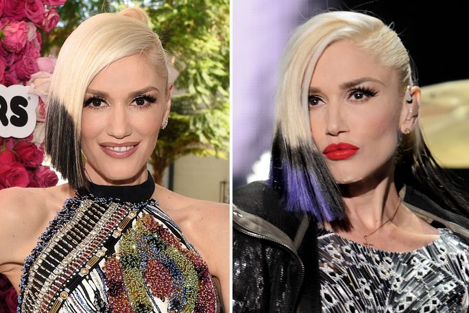 Gwen Stefani new dip-dye hair