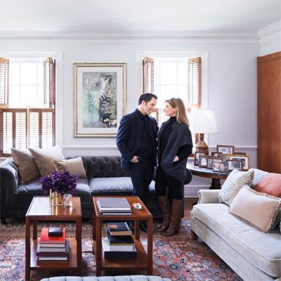 Kenneth Cole's Stylish Home - The Living Room
