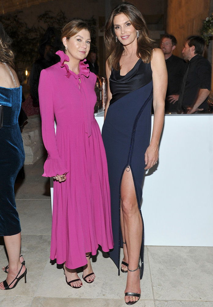 Ellen Pompeo and Cindy Crawford
