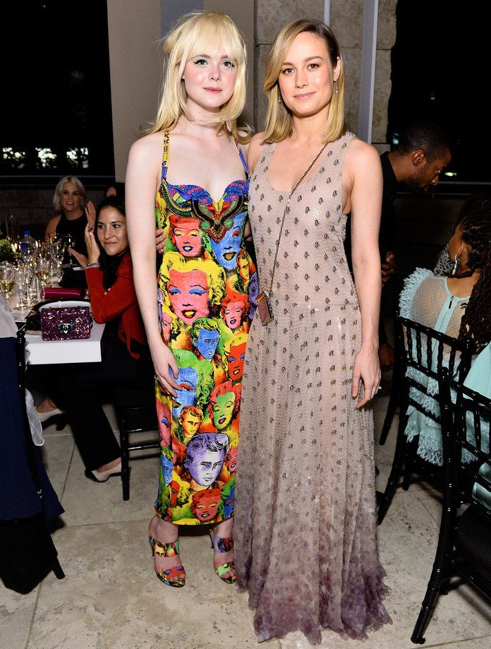 Elle Fanning and Brie Larson