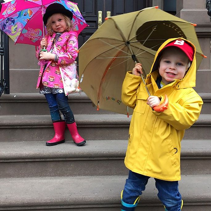 Gideon and Harper Combat the Rain in Style