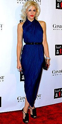 Fergie, Chanel, criss-cross necklines, dresses, celebrity trends, star style