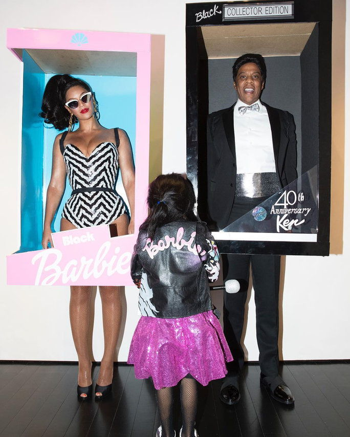 Beyoncé, Jay Z, and Blue Ivy Carter as Barbie Dolls