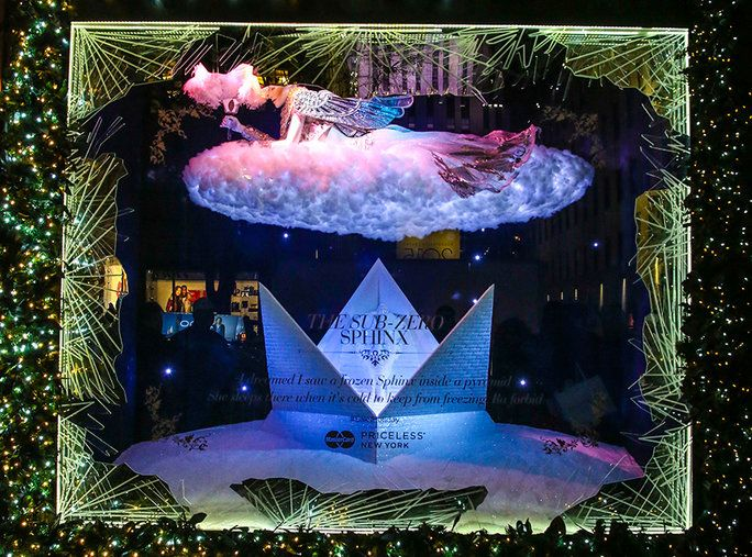 SAKS FIFTH AVENUE: THE WINTER PALACE, THE SUB-ZERO SPHINX