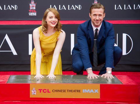 艾玛 Stone and Ryan Gosling Hand & Footprint Ceremony - 1
