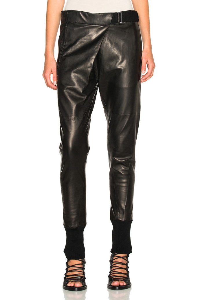 ANN DEMEULEMEESTER Leather Trousers