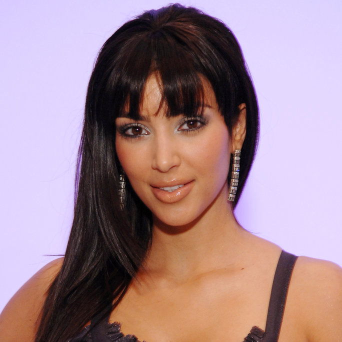 金 Kardashian front row at NIOXIN Hairstyling for Alvin Valley Fall 2007