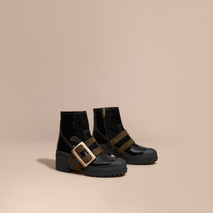 The Buckle Boot in Patent Leather