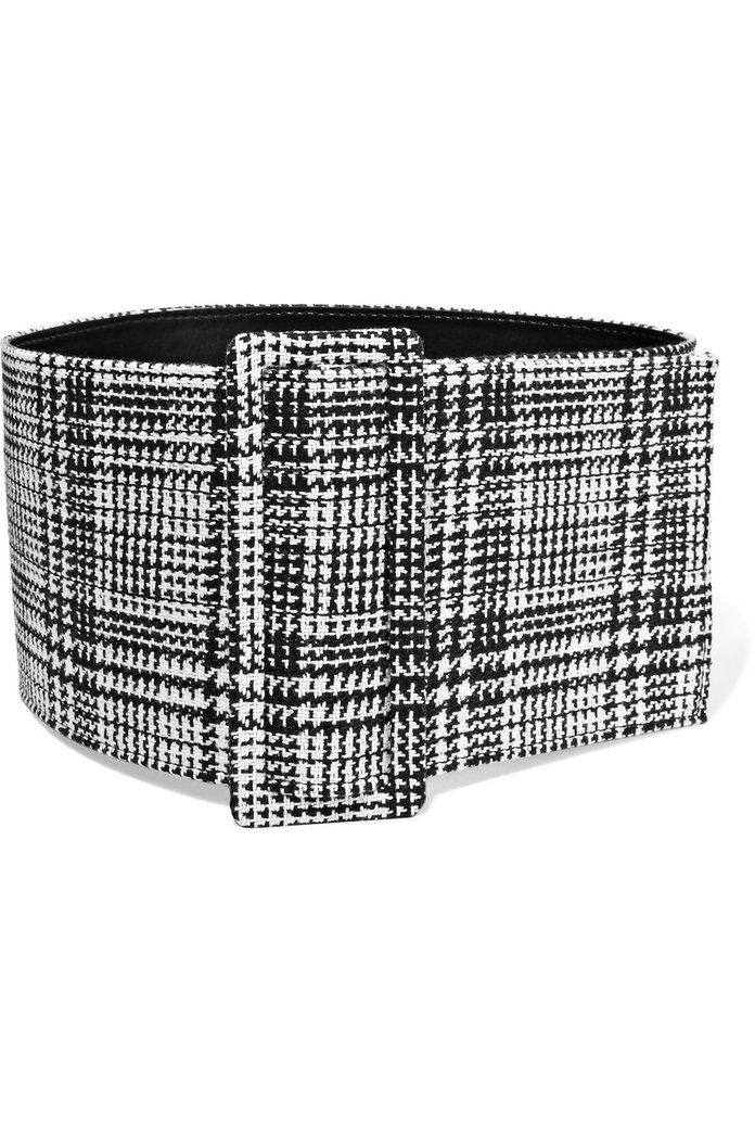 Izključeno White Prince of Wales Checked Belt