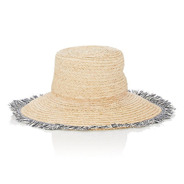 Barney's New York Fringe Trim Hat