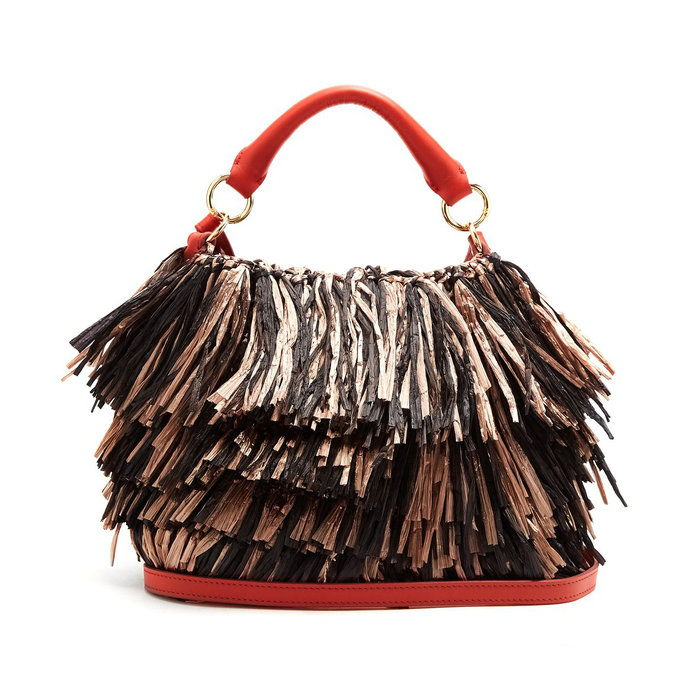 DVF Fringe Top Handle Bag