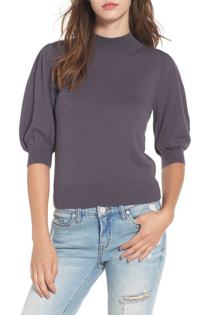 Leith Puff Sleeve Sweater