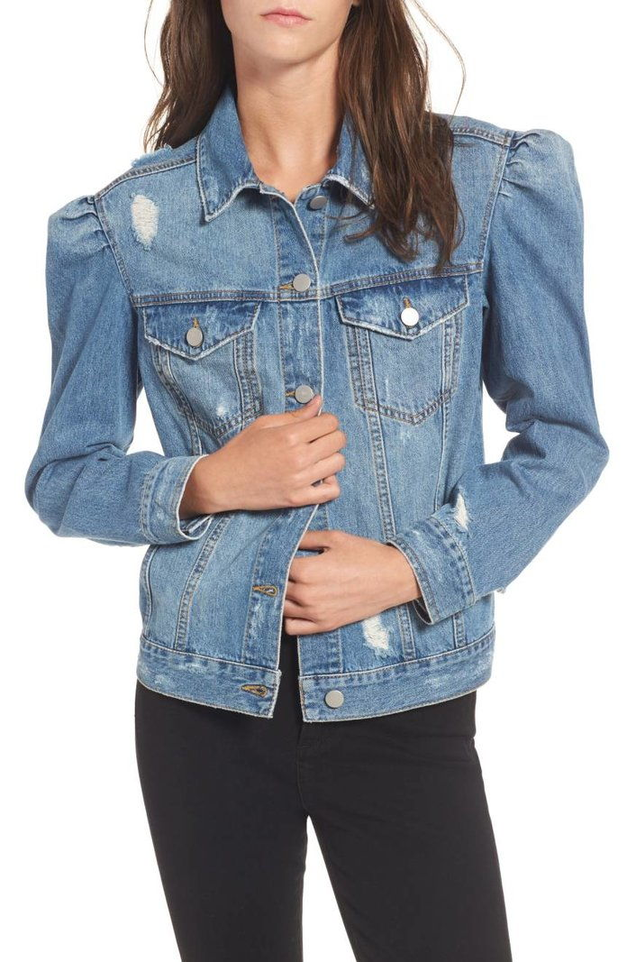 BP. Puff Sleeve Denim Jacket