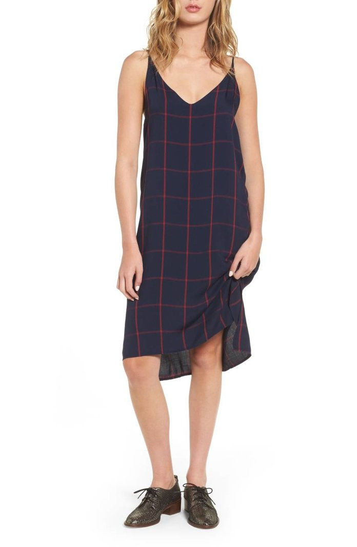 轨道 Alec Plaid Slipdress