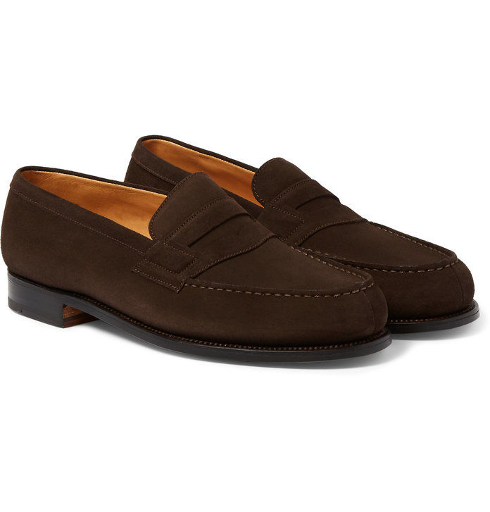 180 The Moccasin Suede Loafers