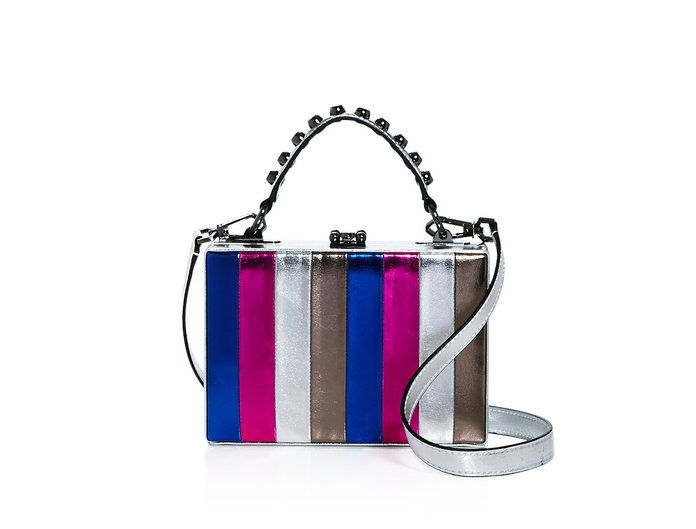Grozno Gal Girl Boxx Metallic Striped Crossbody