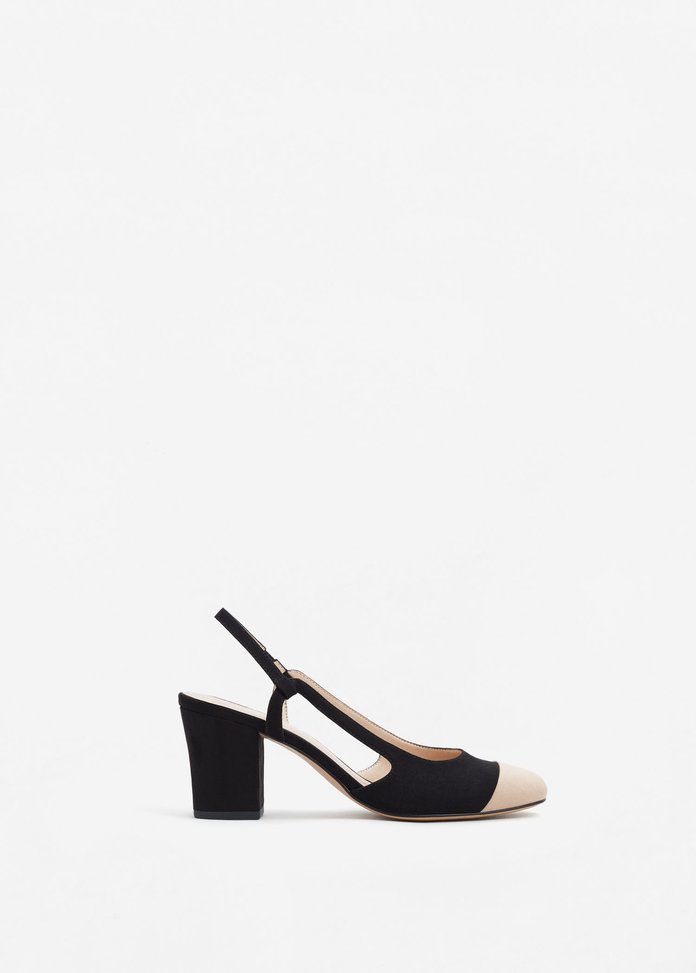 Mango Slingback two-couloured shoes