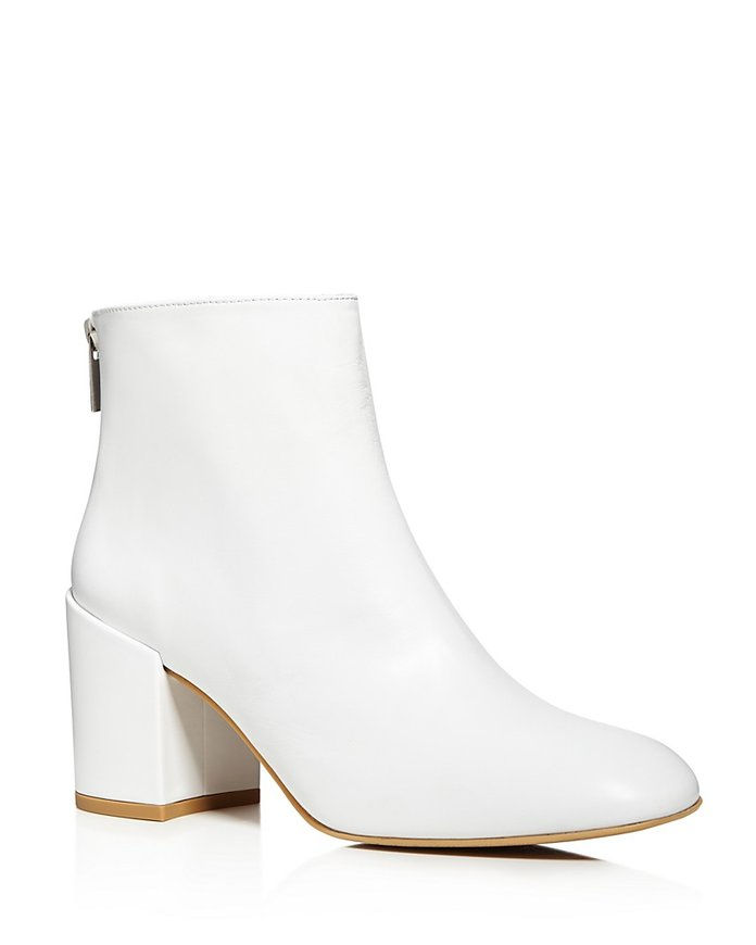 Bacari Leather High Heel Booties