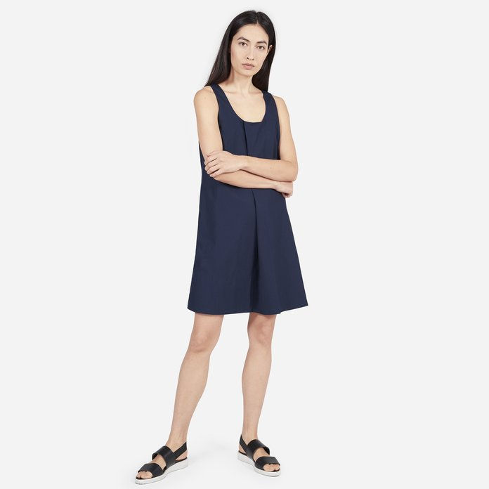 Det Cotton Poplin Pleated Dress