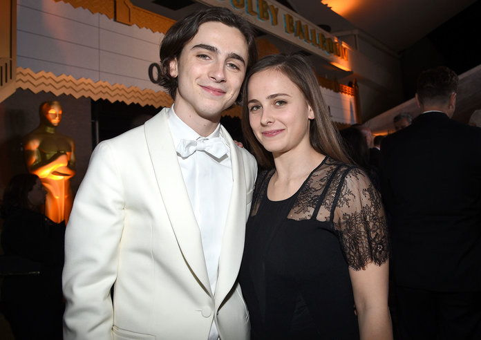 Timothée Chalamet and Pauline Chalamet